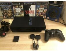 Black Sony PlayStation 2 Starter Bundle , Wireless Control 5 Games