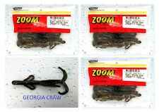 (3) Unopened Packs Zoom Baby Brush Hog Beter Than Salt Georgia Craw 042-329 New