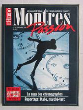 MONTRES passion N° 3 /Dynastie Tissot:/Le chronographe/Omega/Baume & Mercier