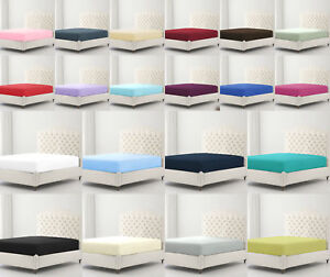 Percale Non Iron Super Soft Fitted Sheets / Flat Sheets / Pillowcases All Sizes