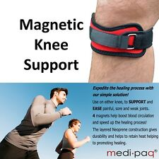 Medipaq Magnetic Knee Patella Compression Support Strap Brace - Pain Relief 2x Supports