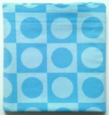 Vtg. TEXMADE Truprest Twin Flat Bedsheet Concord Blue On Blue Circles Squares