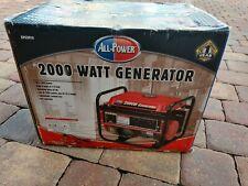 All Power 2000 Watt Portable Generator - New
