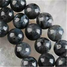 8mm Black Labradorite Gems Round Loose Bead 15''##256