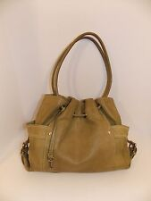 Fossil Leather Large Shoulder Handbag Green Tote Shopper Purse