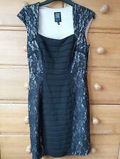 JAX Bodycon Black Lace dress Size 10 (Size 14)