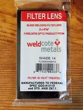 """Shade 14 Welding Lens for Total Solar Eclipse 2"""" x 4-1/4"""" Brand New"""