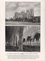 1897 Viktorianisch Aufdruck St.ANDREW'S Kathedrale Sydney St.PAUL'S Melbourne
