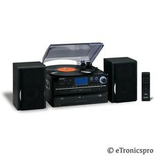 NEW JENSEN 3-SPEED 2 CD PLAYER /RECORDER CASSETTE PLAYER RECORD STEREO TURNTABLE