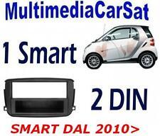 MASCHERINA AUTORADIO 1 E 2 DOPPIO DIN ISO SMART 2010> NERO SPED. 48 ORE Cornice