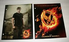(2) HUNGER GAMES School Folders  Set of 2- factory sealed folders