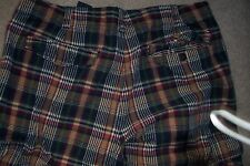 MENS TOMMY HILFIGER SZ 36 -STRIPED CARGO SHORTS-BLUE, RED,TAN,CREAM, GREEN -USED