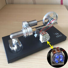 Hot Air Stirling Engine Model Electricity Power Generator Motor Engine w/ Lamp