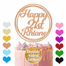 Personalised Cake Topper Circle Design Any Age Name 16th 18th 21st 30th 40 60 80