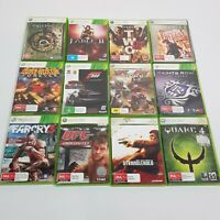 12 x  MICROSOFT XBOX 360 Video Game Bundle Inc Fable II / Condemned 2 / Farcry 3