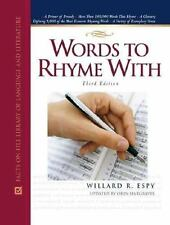 Words to Rhyme with: A Rhyming Dictionary (Facts on File Library of-ExLibrary