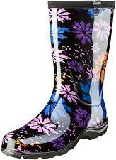 Sloggers Women's Waterproof Rain & Garden Boot w Comfort Insole, Flower Power- 9
