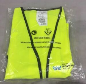 Unisex Mens Womens High Visibility Long Sleeve Safety Waist Coat Vest Work XL