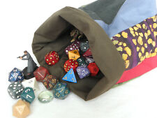 Striped DICE BAG — for Game Parts, Toys, Sewing Notions, Letter Tiles — (Bag G)