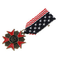 8cm Long Badge Military Uniform U.S.A Star Flag Fabric Medal Brooch Pins
