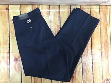 New Cutter & Buck Khaki Pants Mens 38 X 32 Norte Dame NWT Pleated Navy Blue