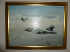 More details for keith watson aviation oil painting framed hawker siddeley buccaners
