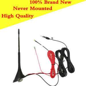 Automobile Roof Mounted Combined FM + DAB Antenna Built-in Amplifier Active SMB