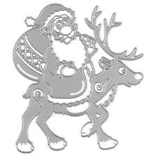 Santa Claus&Elk Metal Cutting Dies Stencils Scrapbooking Album Paper Card Craft