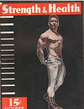 STRENGTH & HEALTH bodybuilding muscle weightlifting mag /Barton Horvath 10-37