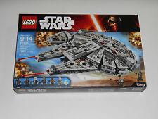 New 2015 Lego STAR WARS MILLENNIUM FALCON Toy Set #75105 (1329 Pcs) 7 Minifigs
