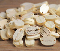 20pcs 2 Holes Sewing Wood Buttons Hand Made Word Scrapbooking Crafts Decorate MD