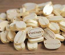 20pcs 2 Holes Sewing Wood Buttons Hand Made Word Scrapbooking Crafts Decor^~^