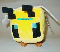 """JINX Minecraft Stuffed Plush Toy 4.5"""" Tall BEE Mattel MOJANG New With Tags 2021"""