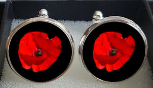 Remembrance Day Armistice Day Poppy Day Cufflinks - A Great Gift