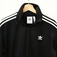 Adidas Mens 3 Stripe Trefoil Track Jacket Size Large Black/White Full Zip Up