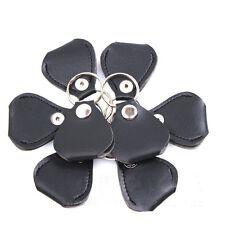 Leather Keychain Style Holder Bag For Guitar Picks Plectrums Black NEW HOT SALE