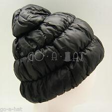 Winter Super Warm Ski Goose Down Filled Beanie Hat Cap Outdoor Unisex Black