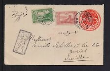 TURKEY OTTOMAN 1915 CENSORED MAILED COVER FROM PERA TO SWITZERLAND