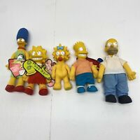 The Simpsons Family 1990 Burger King Plush Dolls Complete Set of 5 Rare Vintage