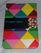 """7"""" Tab Tablet protective sleeve pouch case Samsung Universal Diamonds design NEW"""
