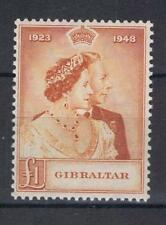 Gibraltar 1948 Silver Wedding High Value SG 135 MNH