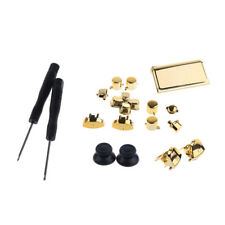 Chrome Gold Full Buttons Set Trigger D'Pad for Sony PS4 Controller + Tools