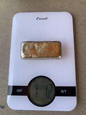 hand poured bronze ingot bars. bullion