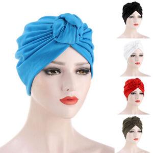 Woman Indian Knot Bonnet Chemo Cap Hijab Turban Hat Beanie Head Scarf Wrap CoveR