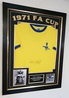 *** New Charlie George of Arsenal Signed Shirt 1971 Autograph Display ** AFTAL