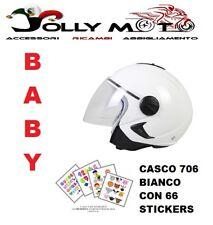 CASCO JET JIUNIOR BIMBO BHR 706 BIANCO CON VISIERA OMOLOGATO TAGLIA YL 52-54 CM