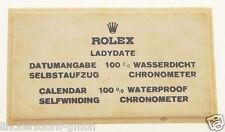 VINTAGE ROLEX LADYDATE - SIGN / SCHILD OFFICAL AGENT - ROHSEIDE - 1960er