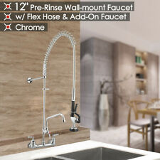 "Commercial Pre-Rinse Faucet Swivel with 12"" Add-On Faucet CUPC NSF"