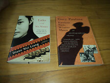 2 Books Diane Wei Liang Lake With No Name + Eastern Sun Winter Moon Gary Paulsen
