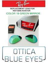 LENTI di Ricambio RAYBAN AVIATOR 3025 Ray Ban Replacement Lenses 19 GREEN MIRROR